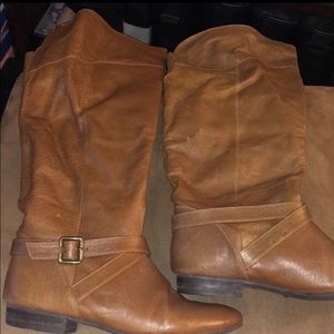 Brown knee high boots- size 9
